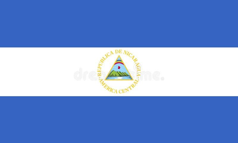 Bandierina della Nicaragua fotografia stock