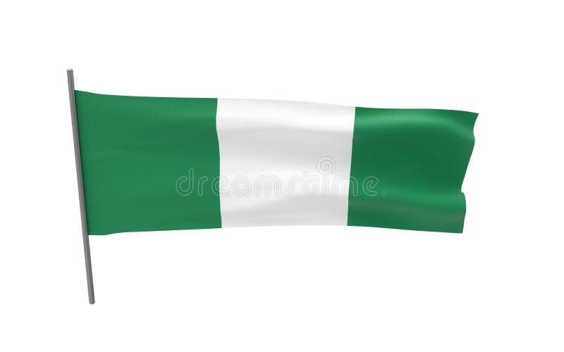 Bandierina della Nigeria illustrazione vettoriale