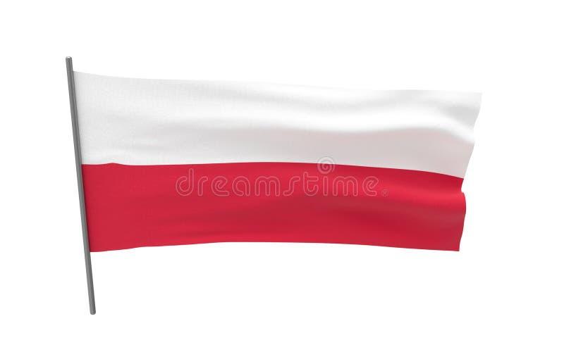 Bandierina della Polonia illustrazione di stock