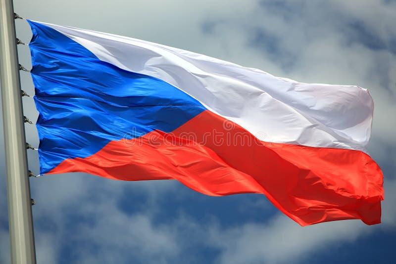 Bandierina della Repubblica ceca fotografie stock libere da diritti