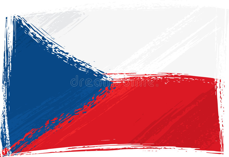 Bandierina della Repubblica ceca di Grunge