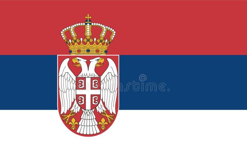 Bandierina della Serbia illustrazione vettoriale
