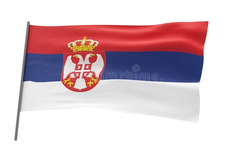 Bandierina della Serbia fotografie stock