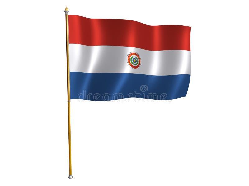 Bandierina della seta del Paraguay illustrazione di stock
