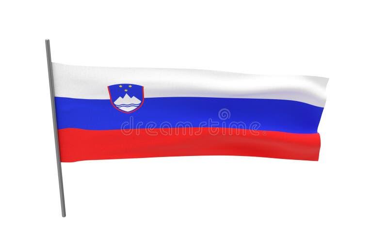 Bandierina della Slovenia illustrazione vettoriale