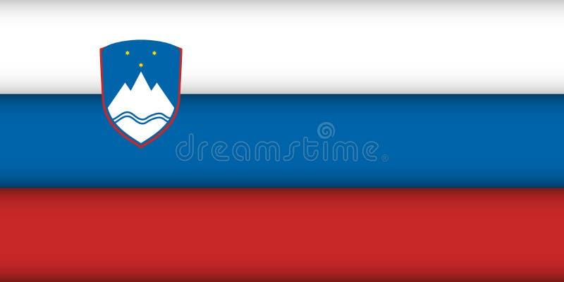 Bandierina della Slovenia royalty illustrazione gratis