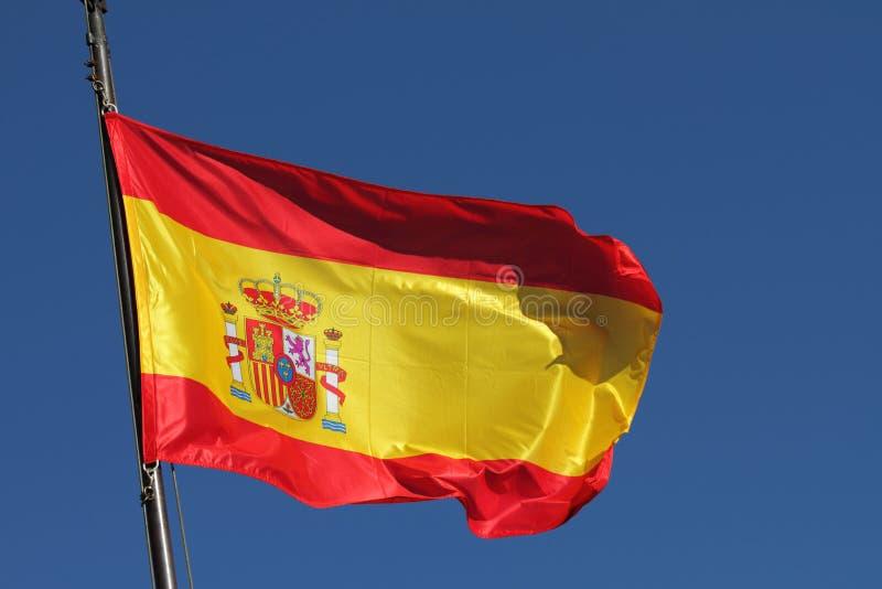 Bandierina della Spagna fotografie stock libere da diritti