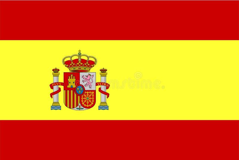 Bandierina della Spagna royalty illustrazione gratis