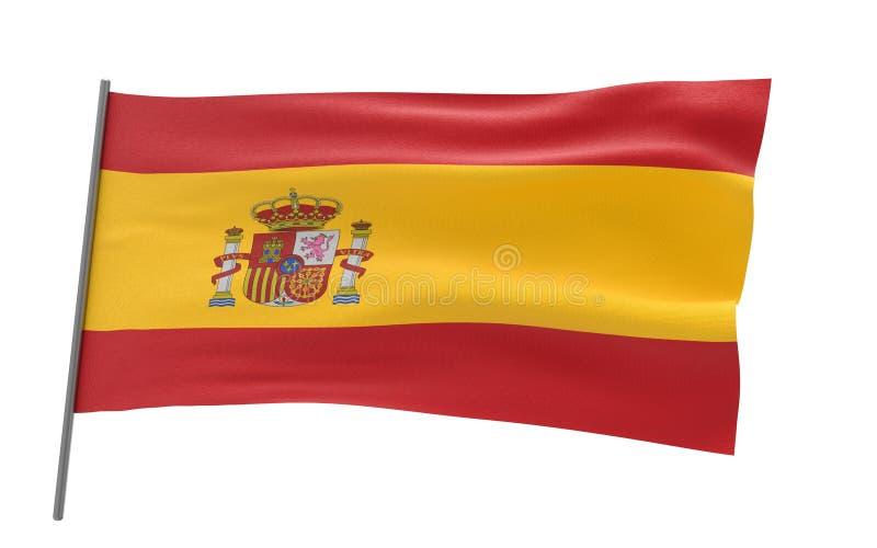 Bandierina della Spagna fotografia stock