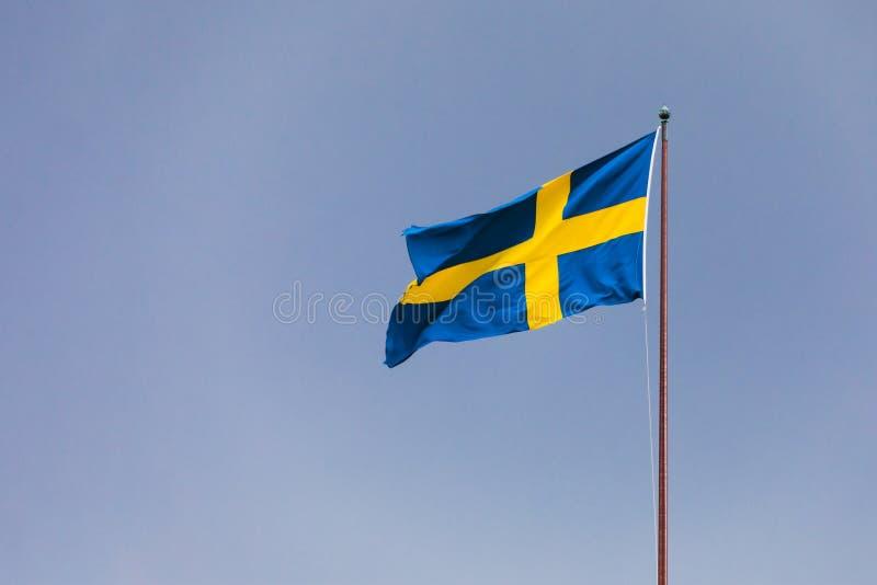 Bandierina della Svezia fotografie stock libere da diritti