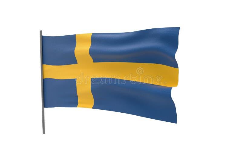 Bandierina della Svezia immagine stock