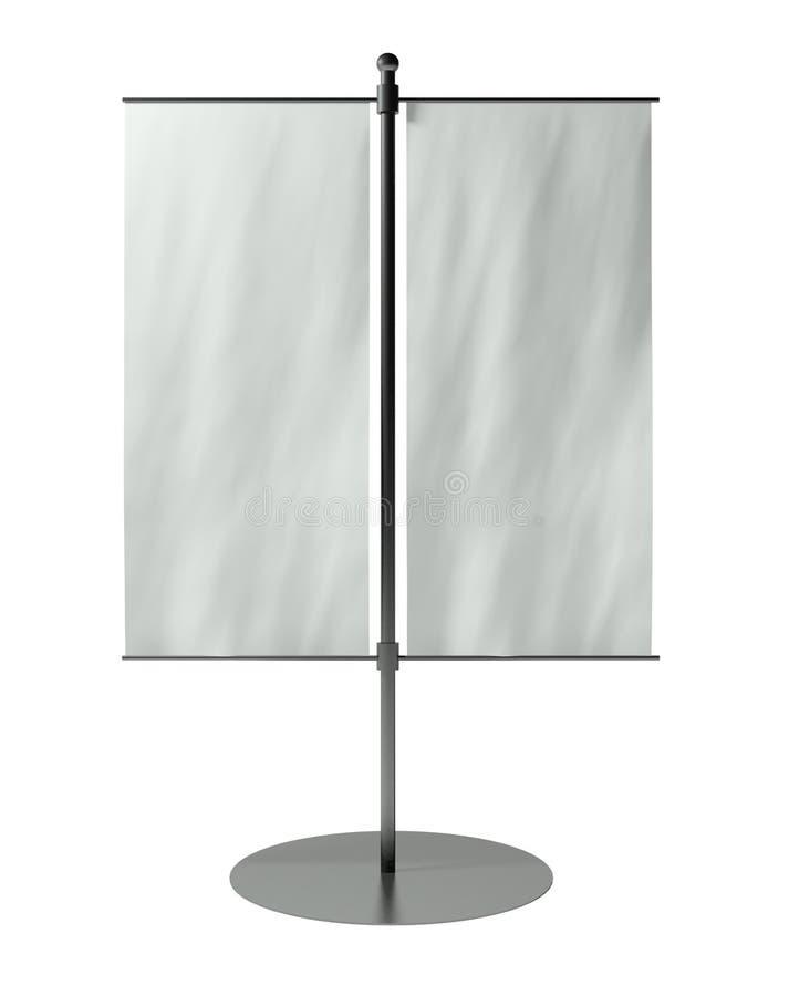 bandierina della tabella in bianco 3d isolata su bianco royalty illustrazione gratis