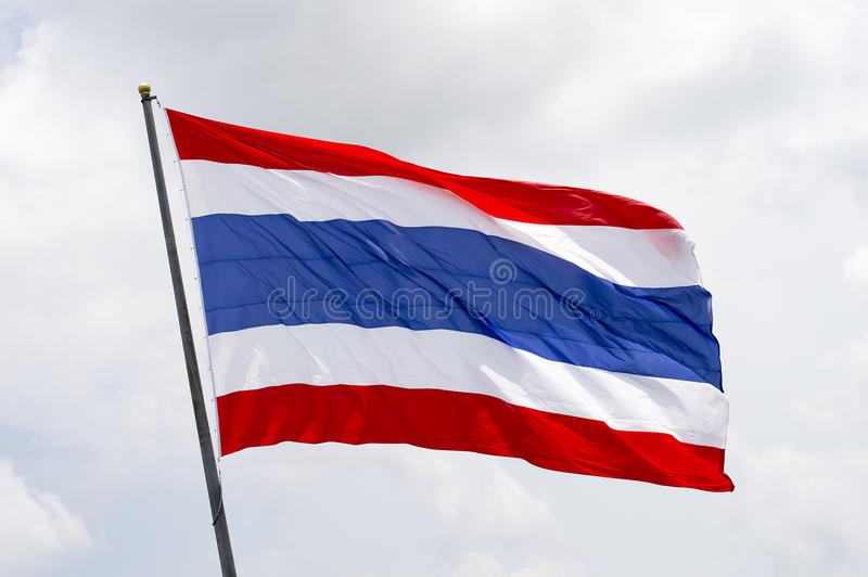 Bandierina della Tailandia fotografie stock