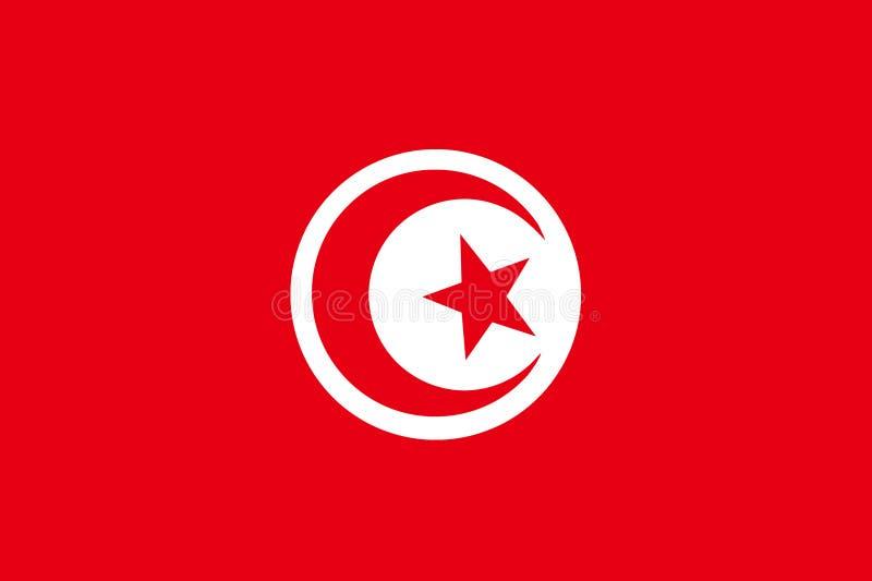 Bandierina della Tunisia illustrazione vettoriale
