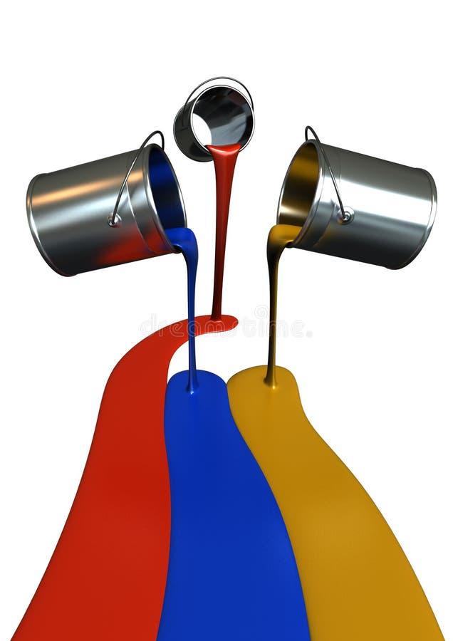 bandierina della vernice 3D illustrazione di stock