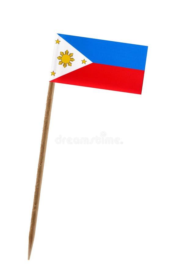 Bandierina delle Filippine fotografia stock libera da diritti