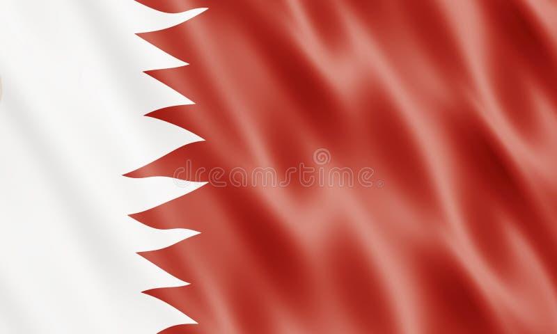 Bandierina dello State Of Bahrain royalty illustrazione gratis