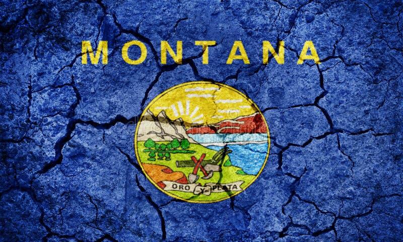 Bandierina dello stato del Montana fotografia stock