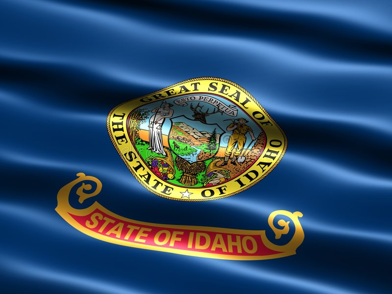 Bandierina dello stato dell'Idaho illustrazione vettoriale