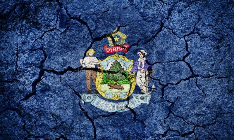 Bandierina dello stato della Maine fotografie stock libere da diritti
