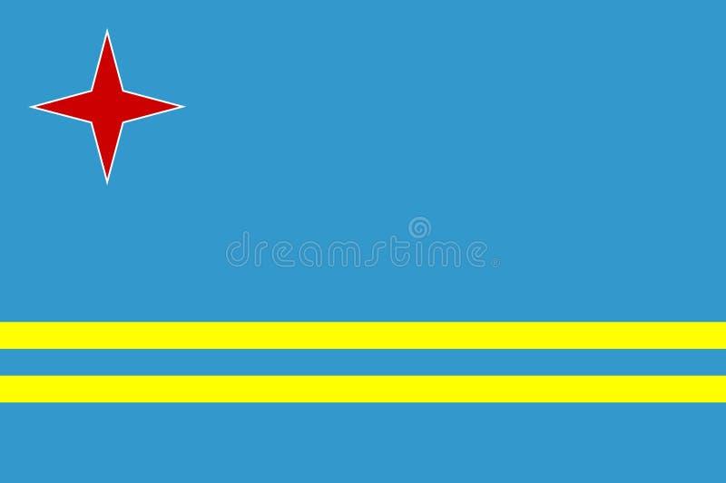 Bandierina di Aruba royalty illustrazione gratis