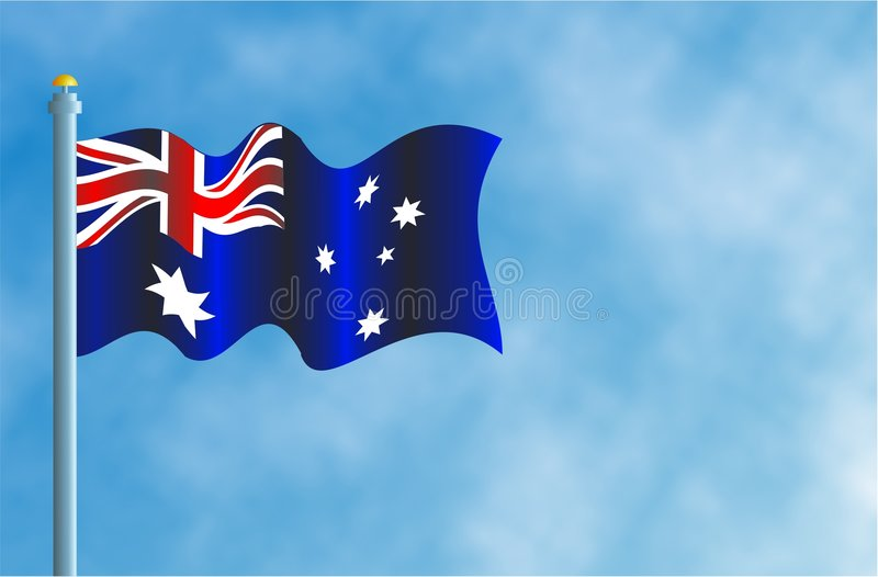 Bandierina Di Austrailian Fotografia Stock