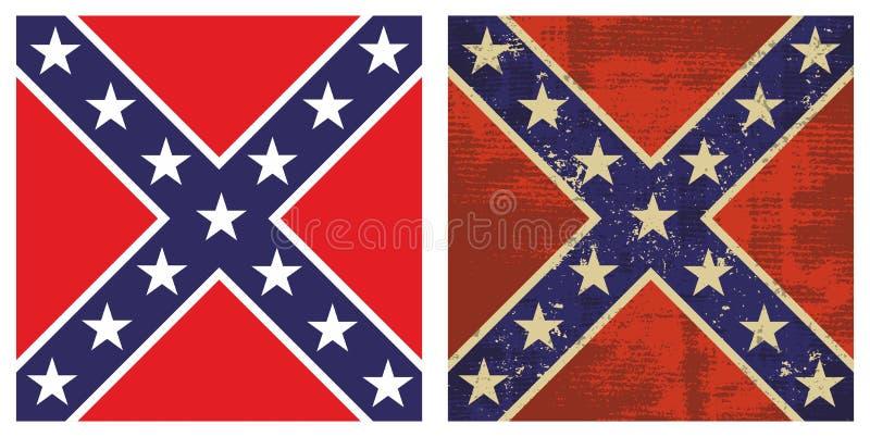 Bandierina di battaglia confederata illustrazione di stock