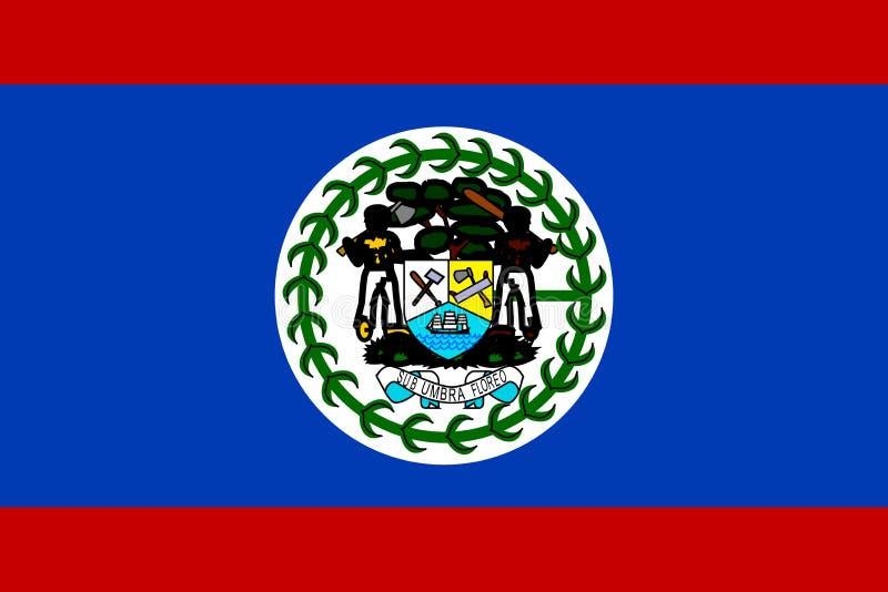 Bandierina di Belize illustrazione vettoriale