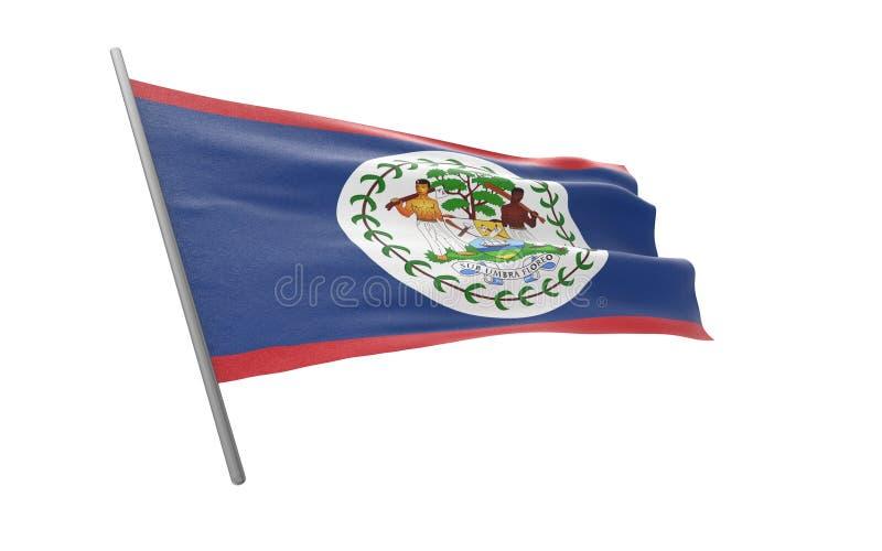Bandierina di Belize royalty illustrazione gratis