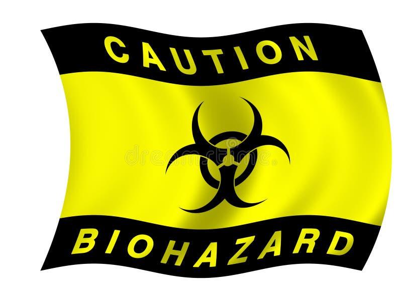 Bandierina di Biohazard illustrazione di stock