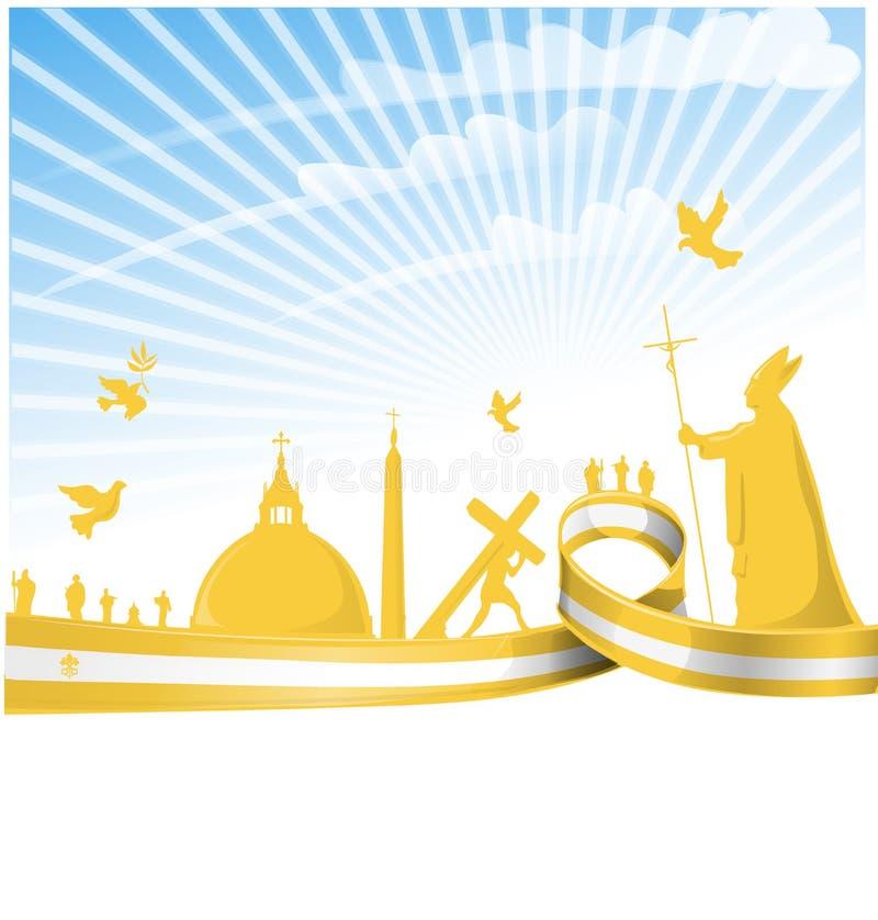 Bandierina di Città del Vaticano royalty illustrazione gratis