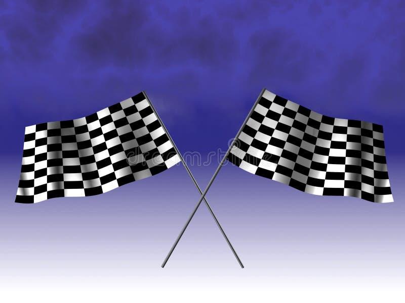 Bandierina di corsa Checkered illustrazione di stock