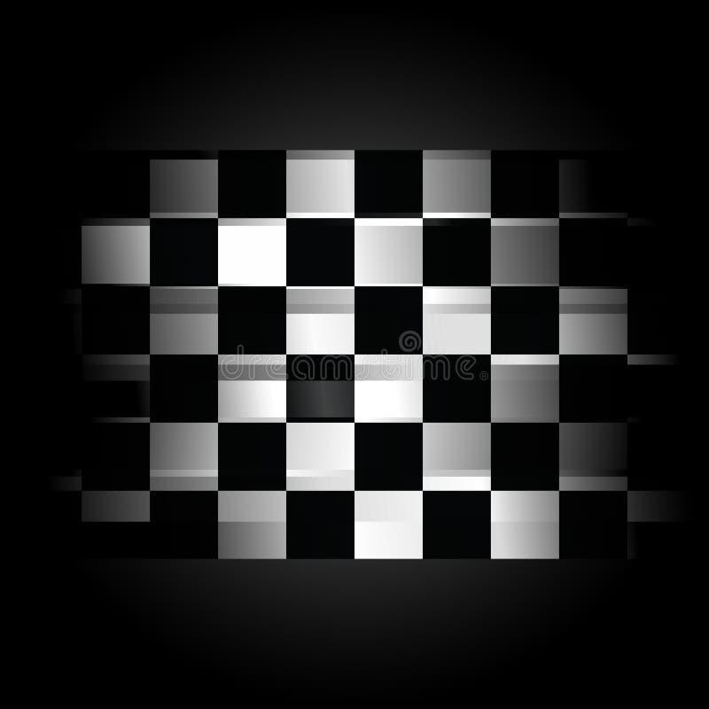 Bandierina di corsa Checkered su priorità bassa nera royalty illustrazione gratis
