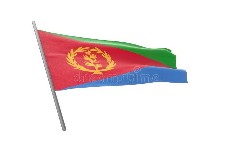 Bandierina di Eritrea illustrazione vettoriale