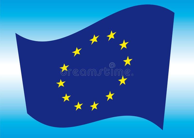 Bandierina di Europa illustrazione di stock