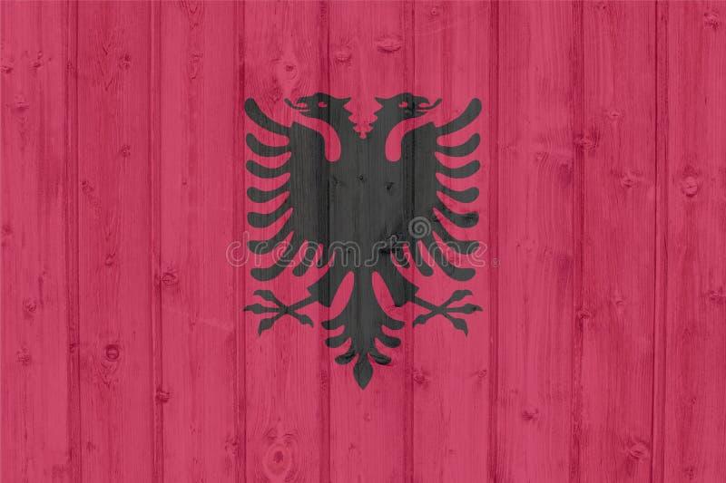 Bandierina di Grunge Albania illustrazione vettoriale