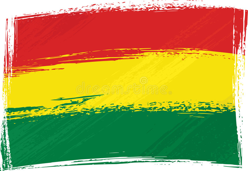 Bandierina di Grunge Bolivia royalty illustrazione gratis
