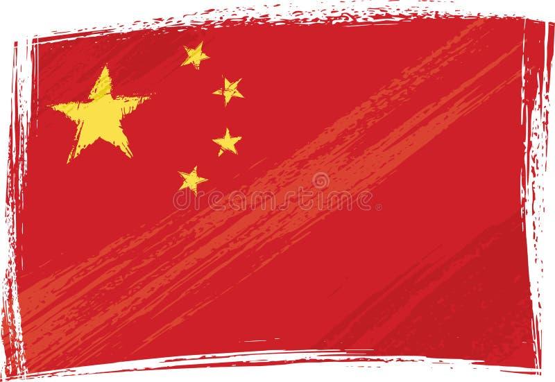 Bandierina di Grunge Cina illustrazione vettoriale