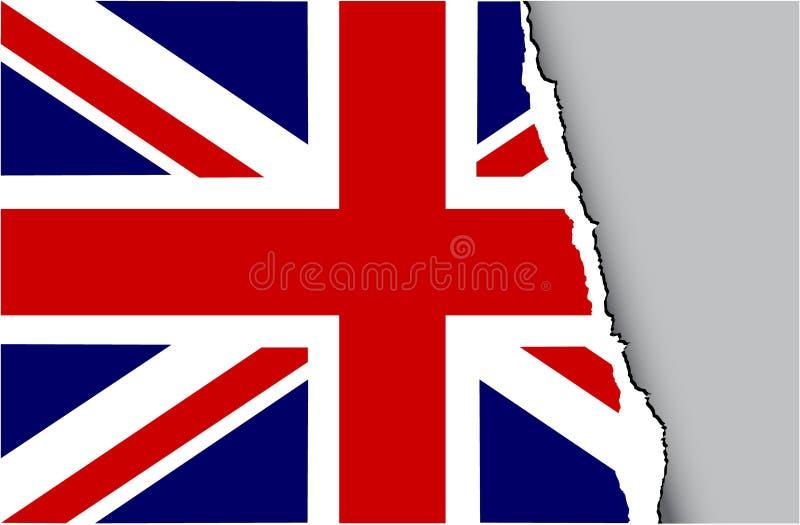 Bandierina di Grunge del Regno Unito illustrazione vettoriale