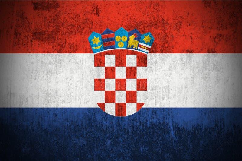Bandierina di Grunge del Republic Of Croatia royalty illustrazione gratis