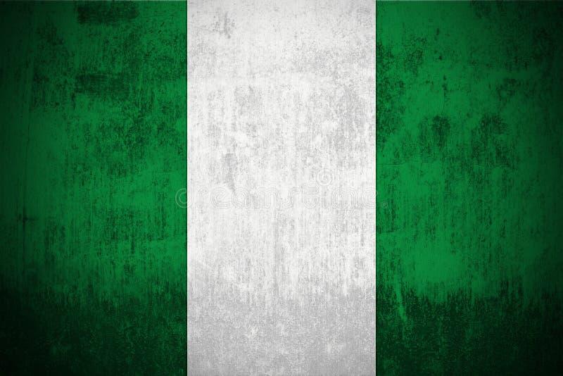 Bandierina di Grunge della Nigeria royalty illustrazione gratis