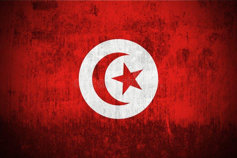 Bandierina di Grunge della Tunisia illustrazione vettoriale