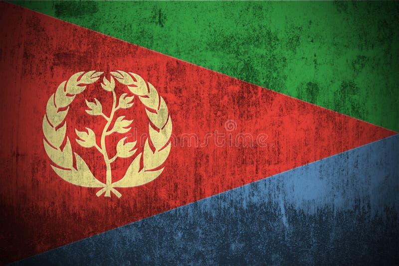 Bandierina di Grunge di Eritrea illustrazione vettoriale