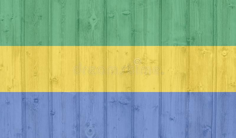 Bandierina di Grunge Gabon royalty illustrazione gratis