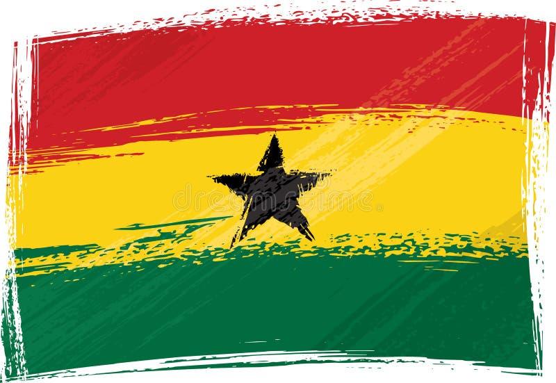 Bandierina di Grunge Ghana royalty illustrazione gratis