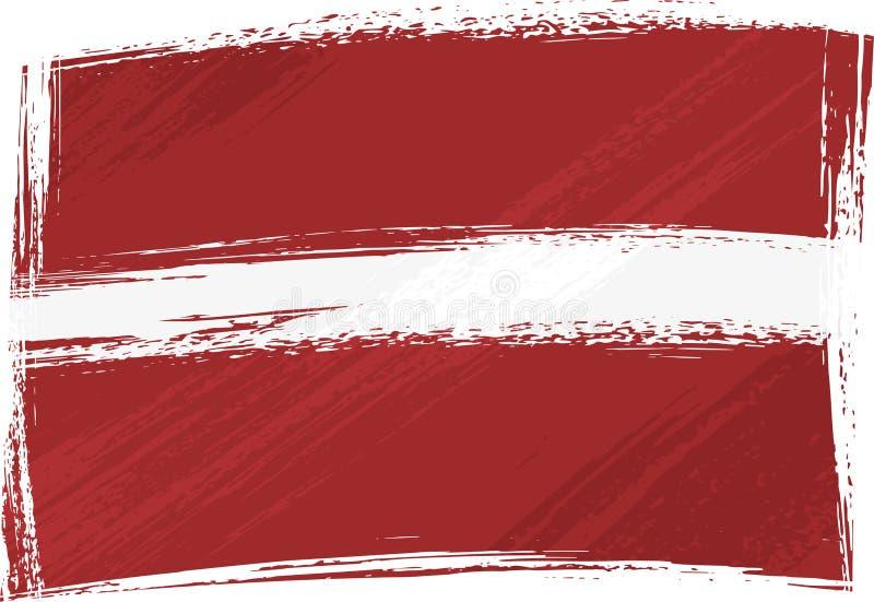 Bandierina di Grunge Latvia illustrazione vettoriale