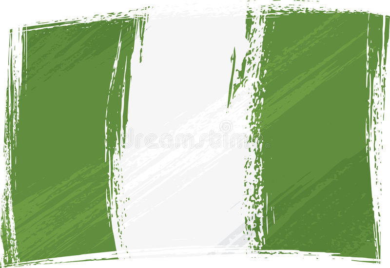 Bandierina di Grunge Nigeria illustrazione vettoriale