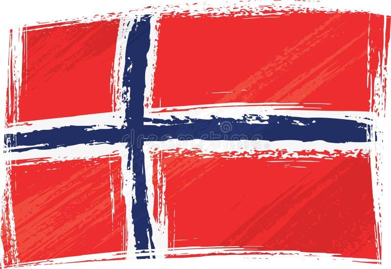 Bandierina di Grunge Norvegia royalty illustrazione gratis
