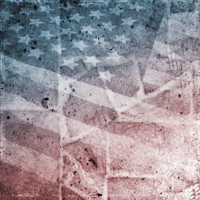 Bandierina di Grunge S.U.A. illustrazione vettoriale