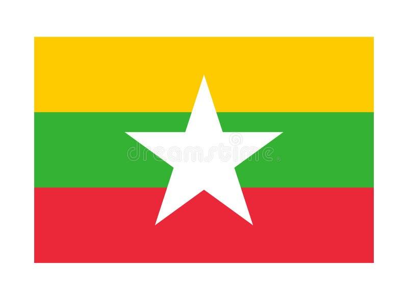 Bandierina di Myanmar royalty illustrazione gratis